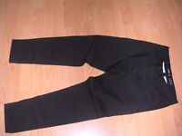 "Black tapered""Chinos"" never been worn. Waist 30"", leg 30"""