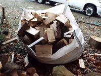 Split FIREWOOD in bulk bags, Fynewood, Dunoon, Argyll