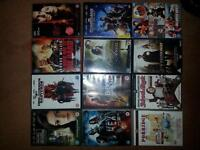 collection of dvds including deadpool