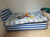 Single divan bed with headboard