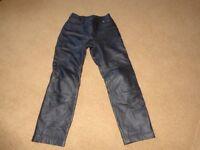 BMW ladies leather biking trousers size 40