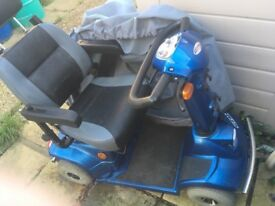 Three mobility scooters for sale two in working order one needs new batteries .