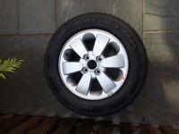 Kia alloy wheel with brand new tyre