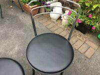 Cafe style leather effect chairs