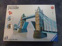 Two Ravensburger 3D puzzles - La Tour Eiffel and Tower of London
