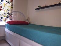 Divan bed with storage, mattress and headboard