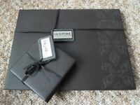 Brown Faux Leather Table Mat & Matching Coasters