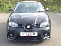 *ONE OWNER * 2008 SEAT IBIZA SPORT * 1.4* BLACK * 3 DOOR * PETROL * 1 YR MOT * PART EX * DELIVERY *