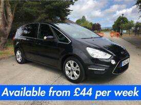 Ford S-Max (7 seater Zafira C-Max Sharan Touran) £44 per week