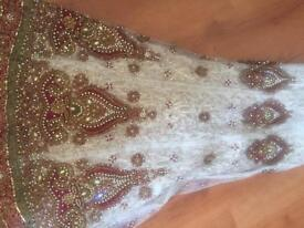 Indian bridal outfit lengha with matching jewellery