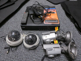 CCTV System with 4 Cameras and Hardrive