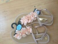 Brand new new nude sandals