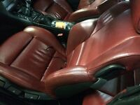 BMW E46 coupe red leather interior including door cards