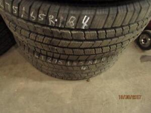 2 ONLY USED 275/65R18 MICHELIN ALL SEASON TIRES