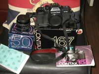 contax 167 mt film camera with contax 50 mm 1.7 lens