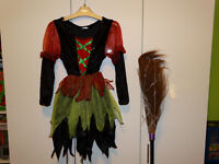 Girls Halloween Witch Costume size 6-8 years ''excellent condition''