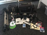 Canon EOS 300D Digital SLR camera and loads of accessories