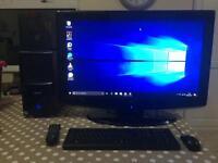 "Computer System with 32"" Monitor / TV, 12Gb RAM, 500Gb SSHD, 1Gb Graphics Card, Windows 10"
