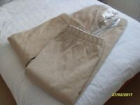 Pair of John Lewis made fully lined curtains for 300cm rail or pole.