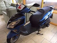 Low Mileage, excellent condition Lexmoto FMS 125 scooter for sale (blue)