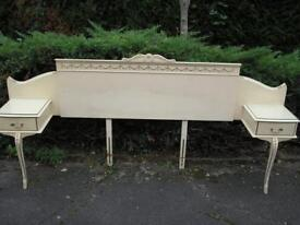 Double Headboard....60's Vintage Shabby Chic ?