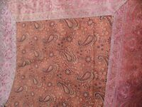 Bed throw/duvet/cover and pillow cases, new, unused, hand made, Indian silk