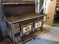 Antique cast iron wood cook stove/oven