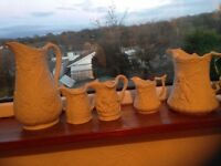 Parian porcelain jugs