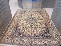 MASSIVE ROOM SIZE HAND WOVEN PERSIAN KHORASAN RUG CARPET 395x295 cm
