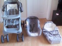 Pram and car seat (Graco Travel System)