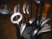 Golf clubs and bag (plus extras)