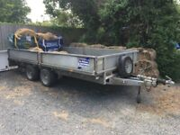 "Ifor Williams Flat Bed Trailer 14' x 6'6"" 3.5 tonne."