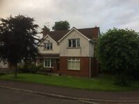 Detached house with garage, 2 reception rooms, 4 bedrooms, master with ensuite.