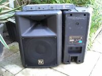 PAIR OF EV SX200 SPEAKERS AND CONTROLLER--MANCHESTER