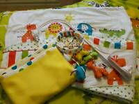 Red Kite Jungle cot bedding set and mobile.