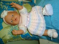 BRAND NEW HHAND KNITTED CLOTHES TO FIT BABY BORN BRAND NEW COMPLETE OUTFIT BUT NO DOLL