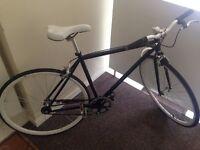 Black and White Fixed Gear Bike.