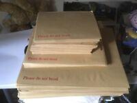 'Do not bend' Cardboard backed envelopes