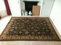 Persian rug 9'10 x 6'6 3m x 2m dark blue