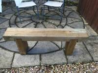 Solid wood garden bench