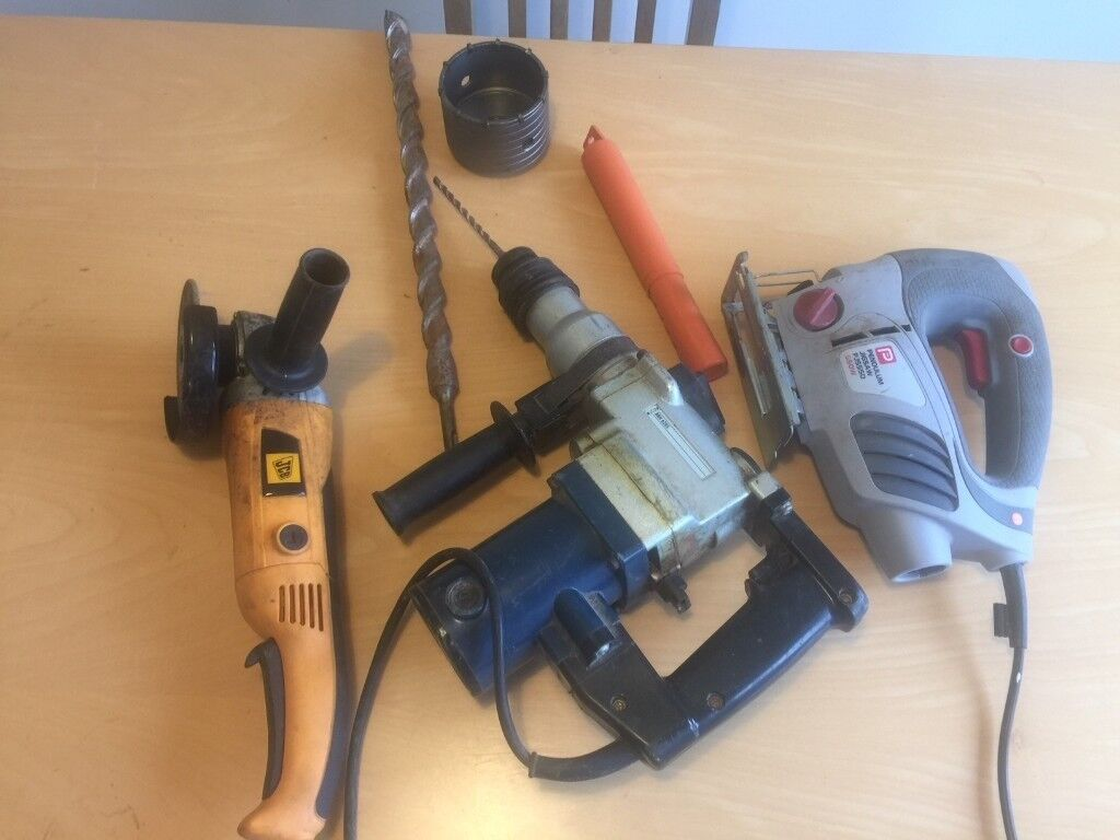 Power Tools, SDS drill, angle grinder, jigsaw, £30 with some attachments  JUST £20 | in Nottingham, Nottinghamshire | Gumtree