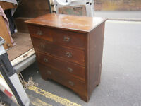 VICTORIAN / EDWARDIAN ARTS & CAFTS OAK CHEST OF DRAWERS IN YEOVIL