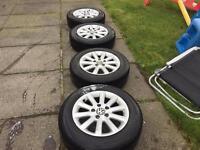 """Vw Golf alloys 15"""" 5x112 good tyres"""