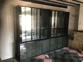 High black gloss and grey furniture