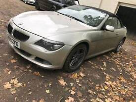 BMW 635D SPORT Convertible spares or repairs damaged salvage