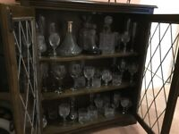 Cut Glass set and cabinet