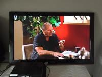 Samsung 50in tv + DVD + sky box