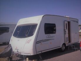 2009 Lunar Clubman CK 2 Berth end washroom caravan with motor mover and all extras. Serviced.