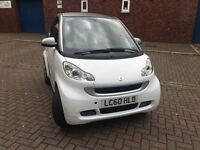 Smart Fortwo 1.0 MHD Pulse Softouch 2dr 2010 in White / Silver LC60 HLD