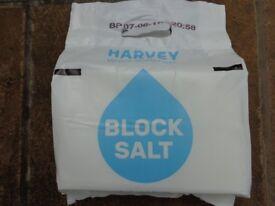10x Packs of Harvey Water Softener Block Salt - 2x 4kg blocks in each pack